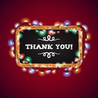Christmas lights thank you banner