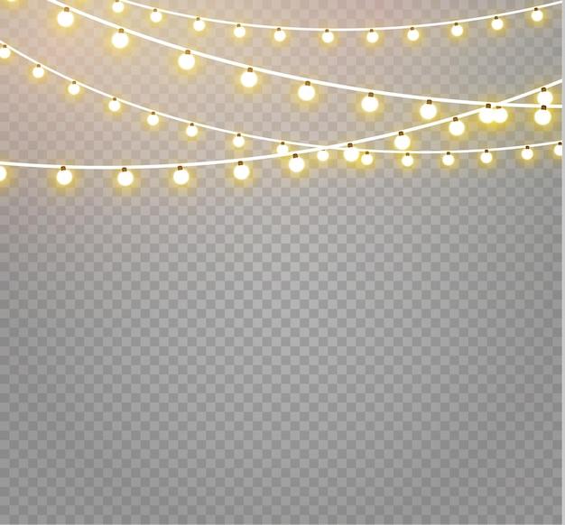 クリスマスのあかり 。クリスマスの輝く花輪。