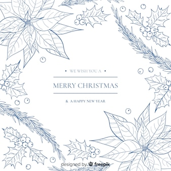 Christmas lineal plants background