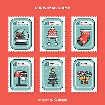 Christmas linear stamp collection