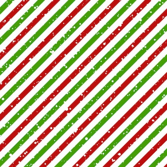 Christmas lines diagonal pattern red and green
