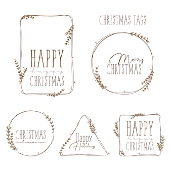 Christmas little tags