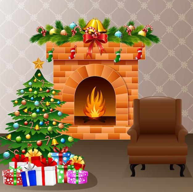 크리스마스 거실