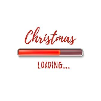 Рождественская загрузка. аннотация, изолированные на белом фоне.