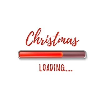 Christmas loading. abstract isolated on white background.
