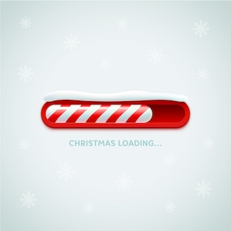Christmas loading bar concept