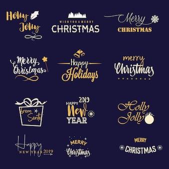Christmas logo collection