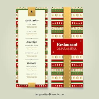 Christmas menu for restaurant