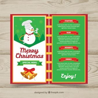 クリスマスメニューテンプレート