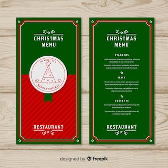 Шаблон рождественского меню