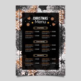 크리스마스 메뉴 템플릿