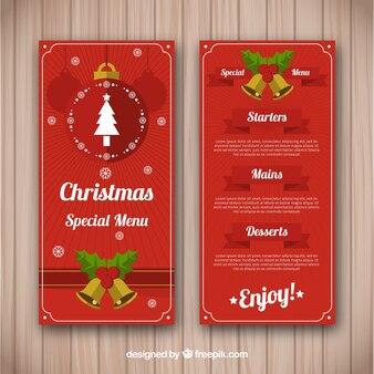 クリスマスメニューと鐘
