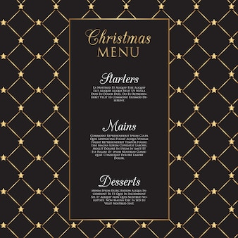 Christmas menu  with gold stars