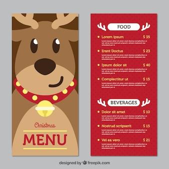Рождественское меню с улыбающимся оленем
