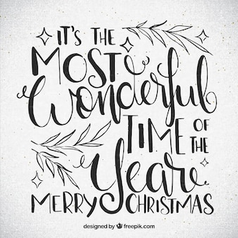 Christmas message lettering in vintage style
