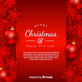 Christmas metallic overloped snowflakes background