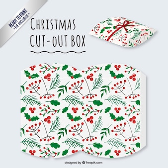 Christmas mistletoe cut out box