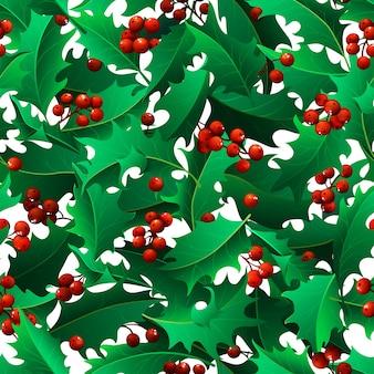 クリスマスヤドリギシームレスパターン