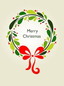 Christmas mistletoe wreath .