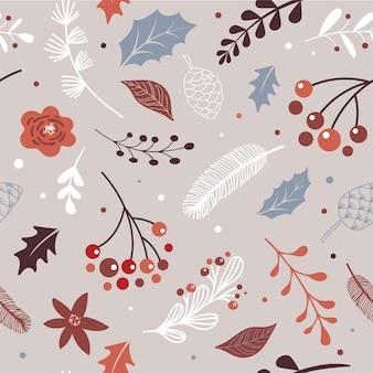 크리스마스 현대적이고 우아한 스칸디나비아, 북유럽 완벽 한 패턴.
