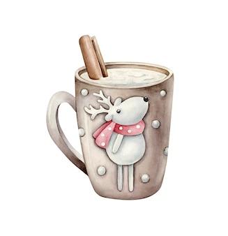 Christmas mug illustration