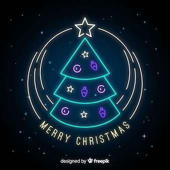 Christmas neon background