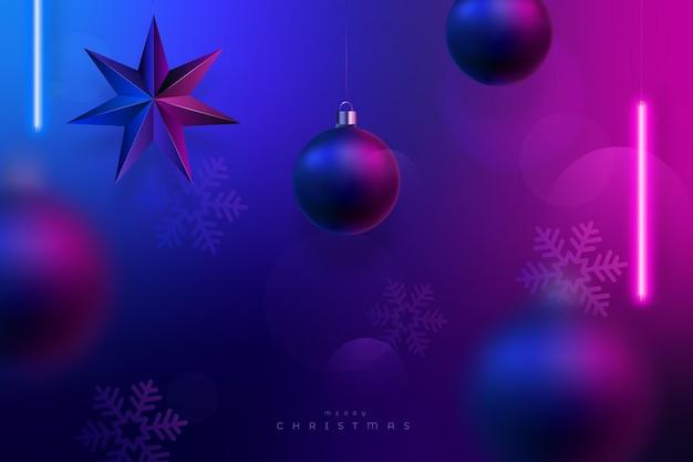 クリスマスネオン照明の背景