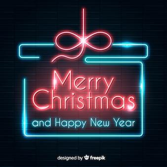 Christmas neon present