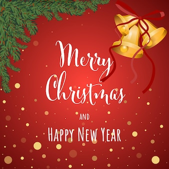 Christmas and new year background greeting card vector illustration