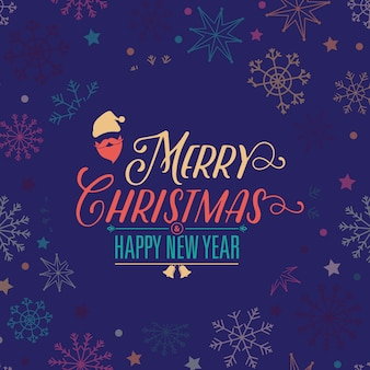Christmas & new year background pattern design