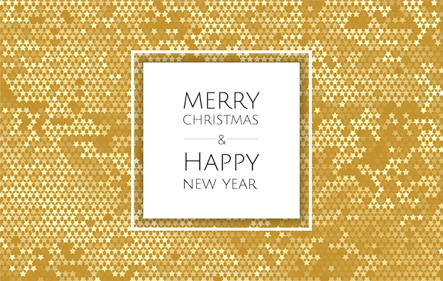 Christmas and new year background with gold glitter texture, xmas card
