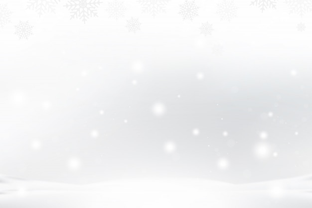 Christmas and new year background with snowflakes and light effects on a blue background.