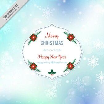 Natale e capodanno sfondo con fiocchi di neve