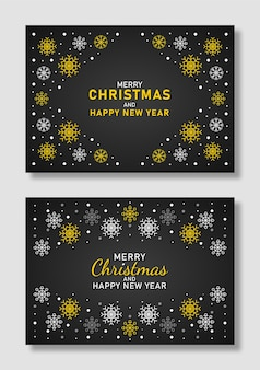 Christmas and new year background with snowflakes