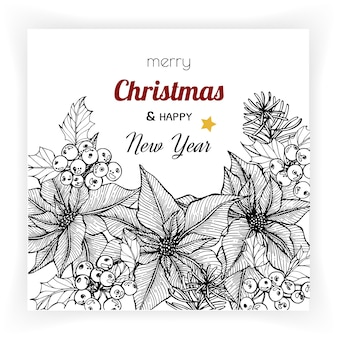 Christmas and new year backgrounds and greeting card.