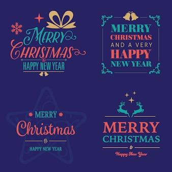 Christmas & new year badge designs