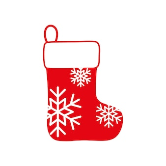 Christmas or new year boot for gifts, sock vector