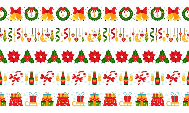 Christmas, new year borders
