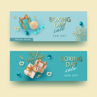 Christmas and new year boxing day banner
