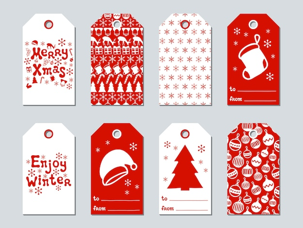 Christmas and new year gift tags