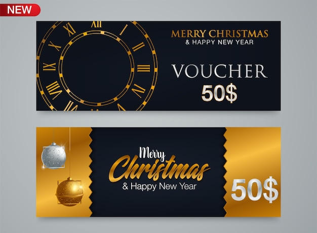 Christmas and new year gift voucher