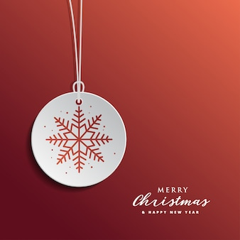 Christmas and new year greertig card design with red background