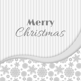 Christmas and new year greeting, invitation card. white and grey colors, vintage decorative style. vector illustration.