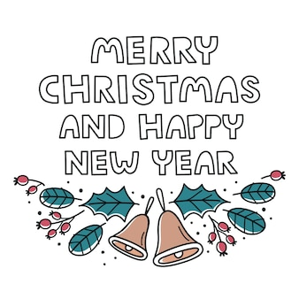 Christmas and new year greeting template