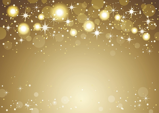Christmas and new year holidays gold abstract bokeh background.