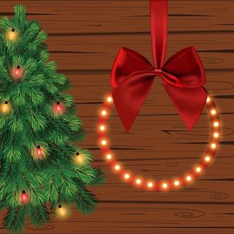 크리스마스, 새 해 그림입니다. 인사말 카드.