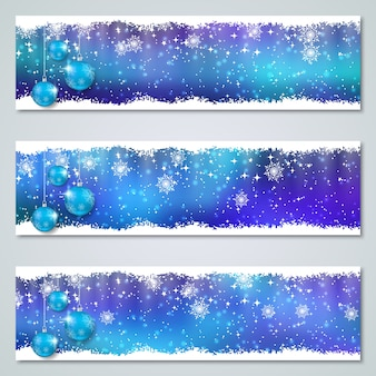 Christmas and new year luxury colorful  banners collection