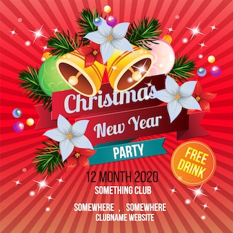 Christmas new year party template