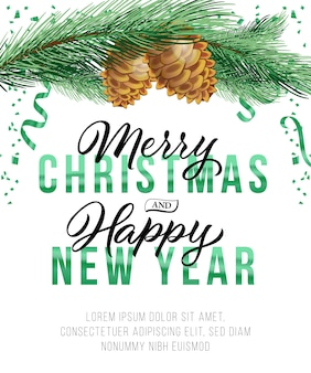 Christmas and new year poster design