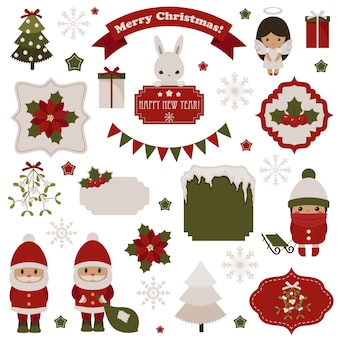 Christmas and new year's traditional objects